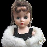 Madame Alexander Cissette 1950's Doll in Black Velvet Gown and Stole All Original