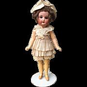 "9""  Heubach Koppelsdorf 250 Flapper Antique Bisque Doll"