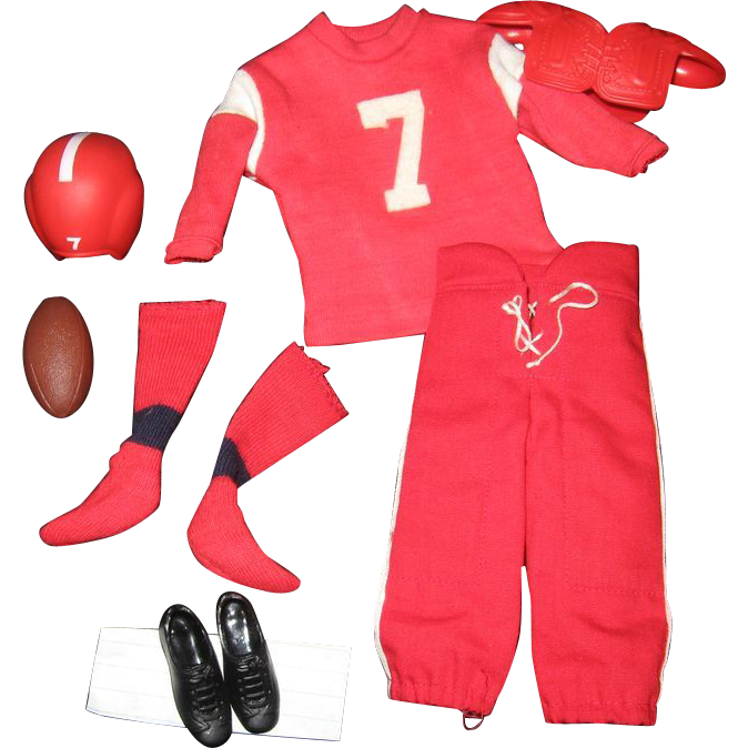 1960's Ken Doll Touchdown! Football Player Outfit