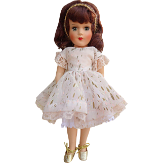 Gorgeous Mary Hoyer 1950's Doll Hard Plastic with Tagged Dress