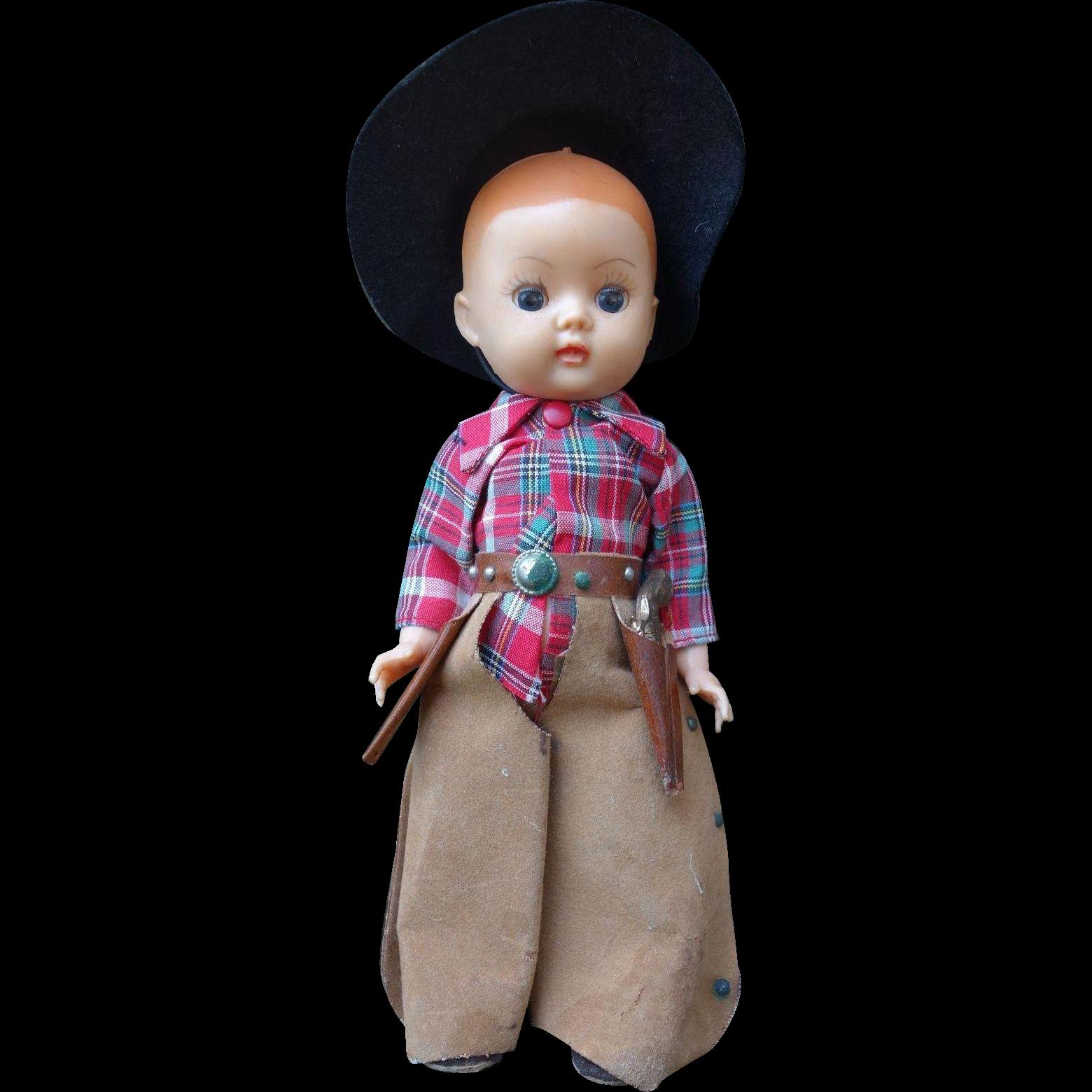 Rare Nancy Ann Storybook Doll Muffie Cowboy All Original 1950's