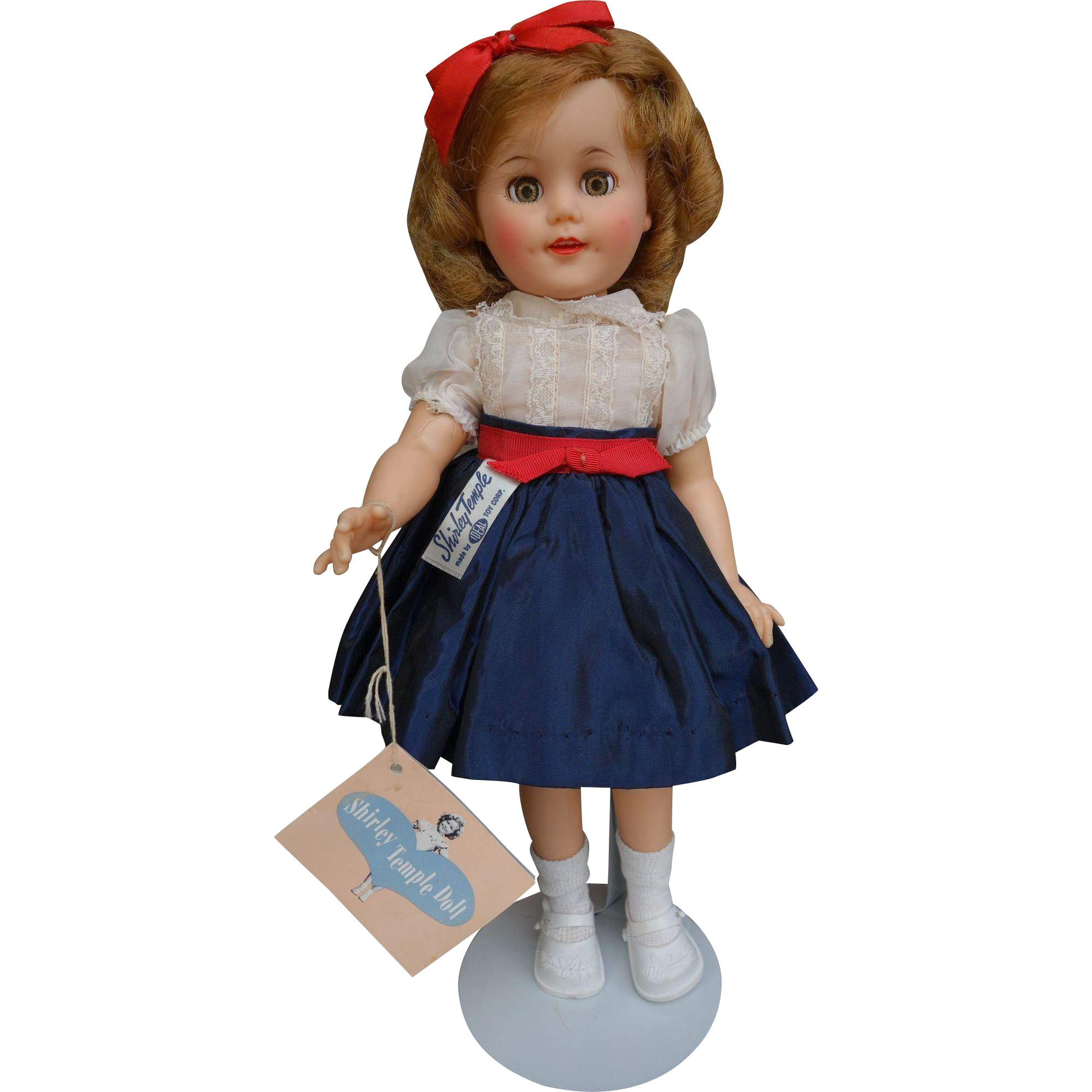 Ideal 1950's Gorgeous All Original Shirley Temple Doll with Hang Tag