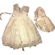 "Vintage Terri Lee 3 Piece Wedding Outfit 1950's for 16"" doll"