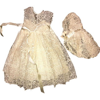 """Vintage Terri Lee 3 Piece Wedding Outfit 1950's for 16"""" doll"""