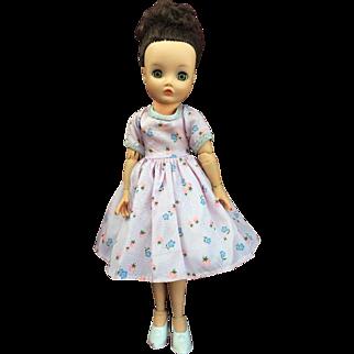 "RARE 14""-15"" Uneeda Dollikin Squirt Brunette Doll 1950's"