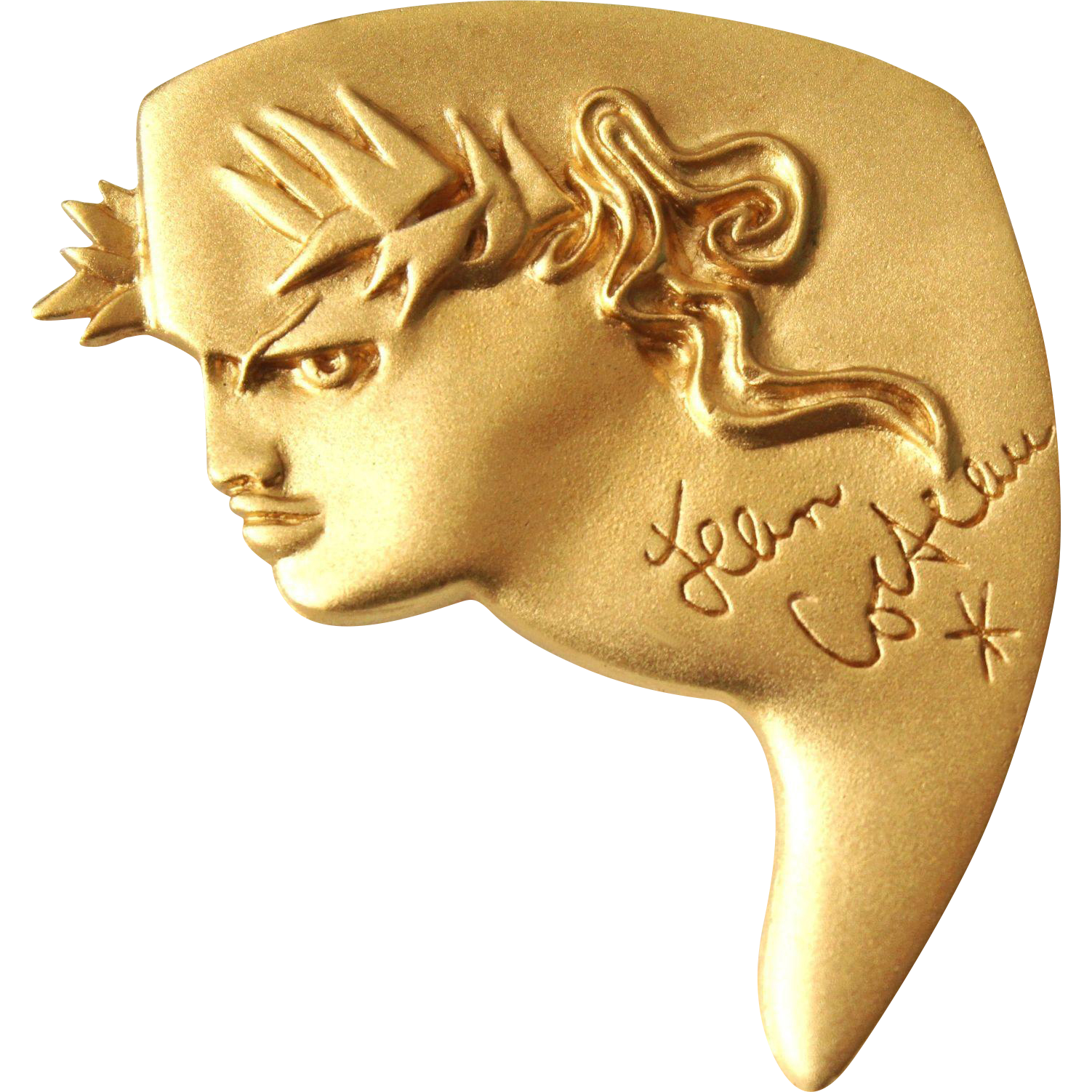 Very Rare Signed Jean-Cocteau 1997 Testement D'orphee Madeline-Flammarion Brooch
