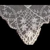 Vintage Bride Wedding HankieTAMBOUR Hand Embroidered French NET LACE~ Exquisite~