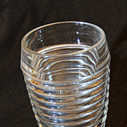 Anchor Hocking Manhattan Crystal Footed Tumbler 10 oz. ~ Excellent