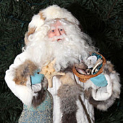 Vintage Santa Collectible Made Artisan Signed  Numbered