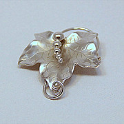 Signed CARL ART Solid Sterling Leaf Pendant Brooch- BEAUTIFUL