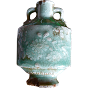 18C Chinese celadon porcelain snuff bottle