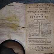 1762 Tower of London Guidebook original