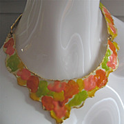 Vintage Brightly Coloured Enamel Necklace