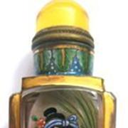 18C Qianlong Antique Painted Snuff Bottle - Two Women.