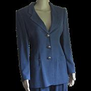 Vintage Krizia 'Mirrors' Silk Pantsuit, US6