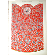 Three Antique Turkish Chromolithographs, 1868: Grammar of Ornament