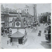 "Scollay Square, Boston, Original 1900s 17"" x 16"" photograph"