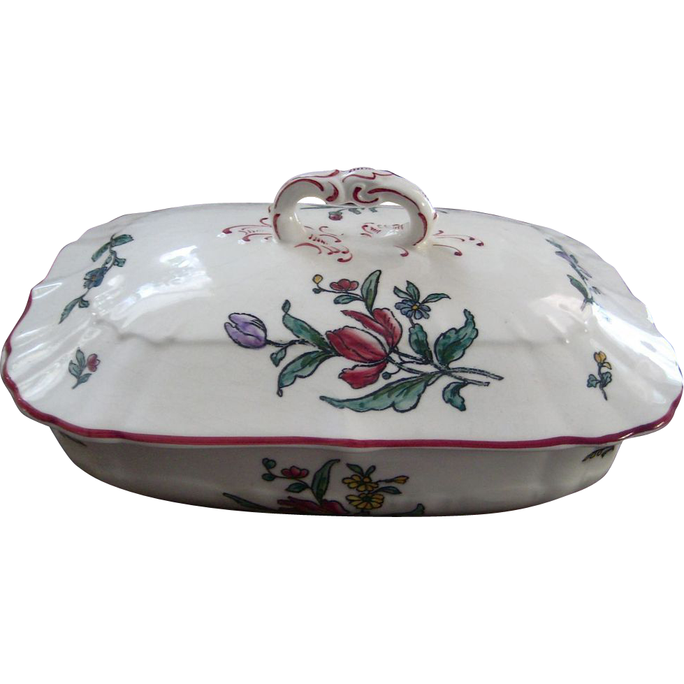 Antique Alt Strassburg Vegetable Tureen 1900