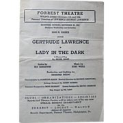 Playbill 1942; Gertrude Lawrence, Lady in the Dark.
