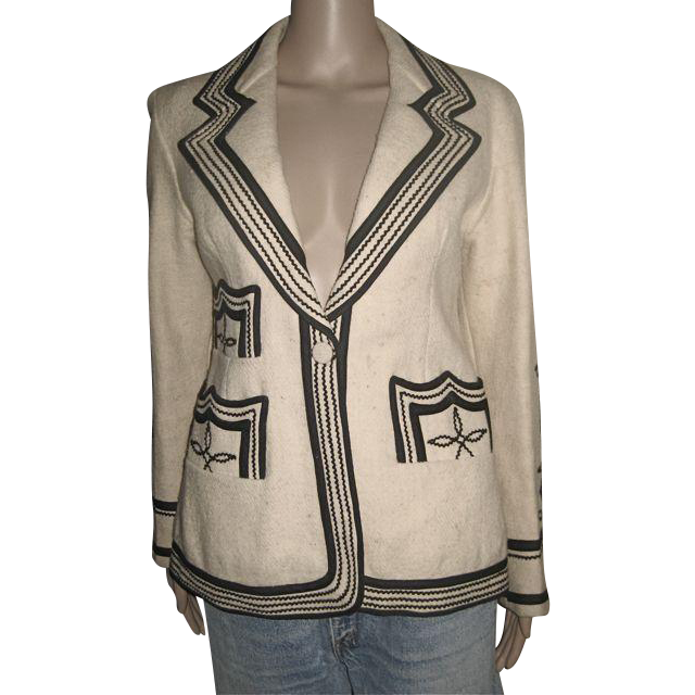 Hand made 100% untreated wool jacket from Guatemala