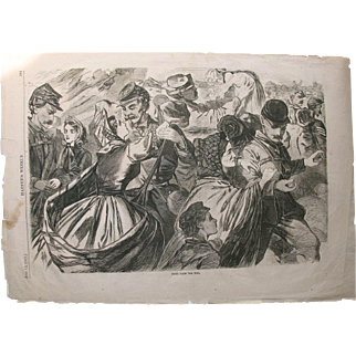 "Harper's weekly; Winslow Homer ""Home from the War""  1863"