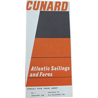 CUNARD: Atlantic Sailings and Fares