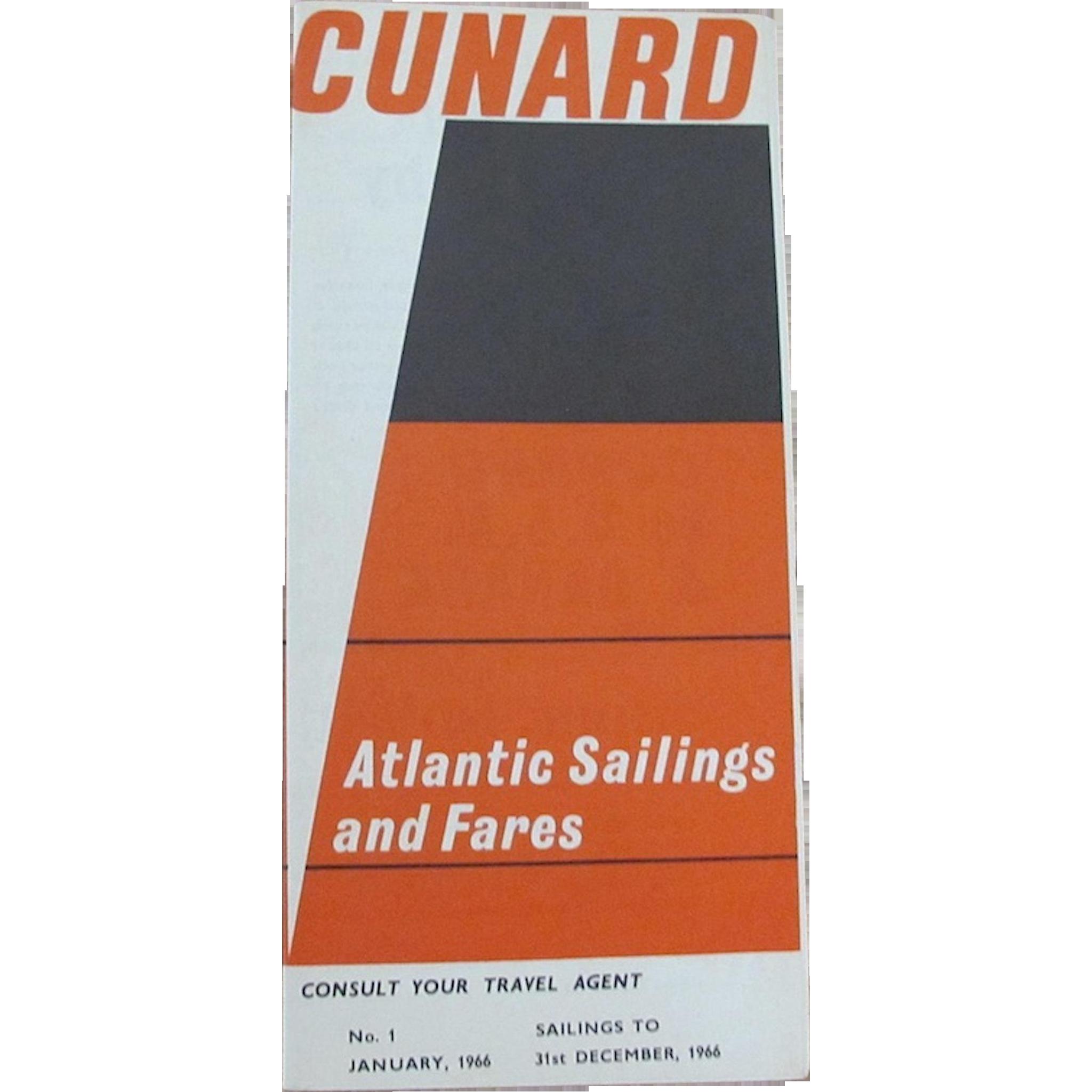 CUNARD: Atlantic Sailings and Fares