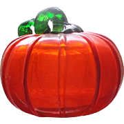 Glass pumpkin paper weight
