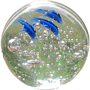 Glass Dolphin paper weight