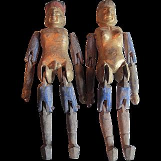 Chinese, circa 1900. Medical Dolls
