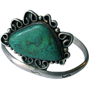 Old Navajo Turquoise and Silver Pawn Bracelet