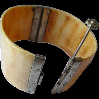 Vintage, large, horn bracelet