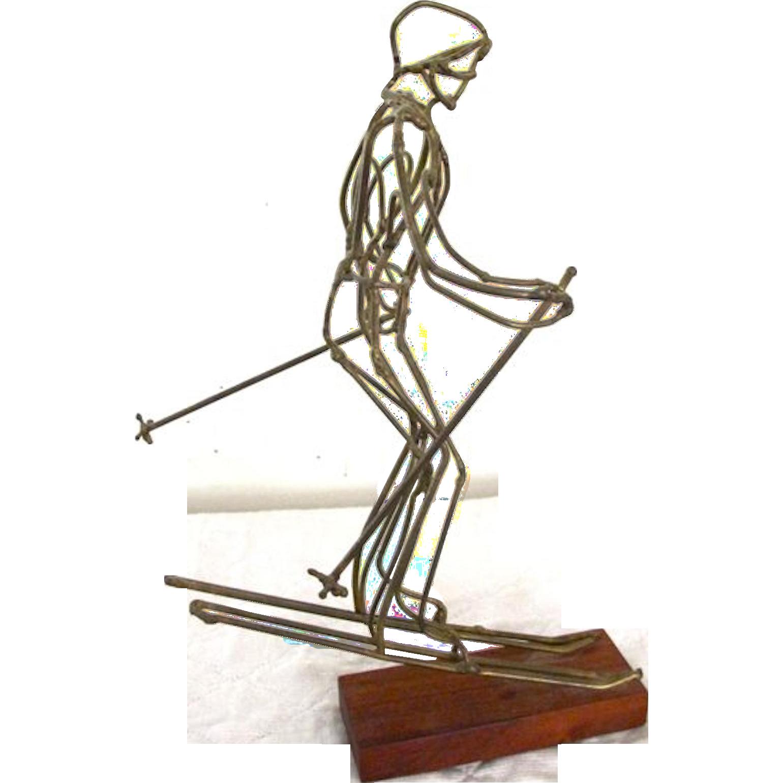 Handmade Wire Skier