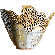 Very beautiful handmade reticulated bowl