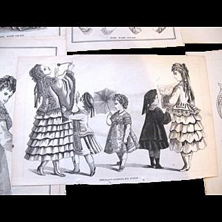 24 Godey's  Fashion Engravings