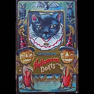 Super Halloween Cat Card