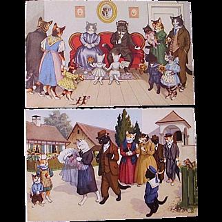 Two Eugen Hartung/Max Kunzli postcards