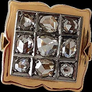 18K Old Rose Cut Diamond Cluster Georgian Antique Ring 8