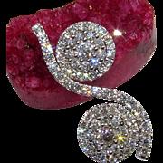 14K Briolette VS Diamond Pendant Necklace GORGEOUS!