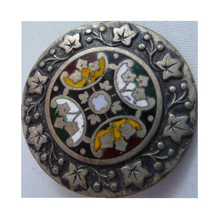 Vintage enamel button