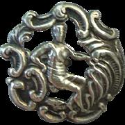 Vintage Birmingham Sterling Silver Button