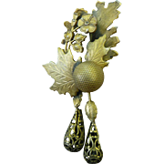 Vintage Alice Caviness Brass Pin