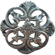 Victorian sterling silver button