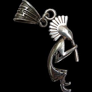 Wonderful Large Vintage Silver Southwest Pendant