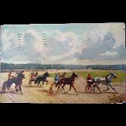 Vintage Tuck Horse Racing Postcard