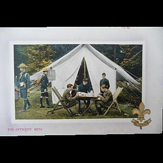 Vintage Officer Mess Postcard
