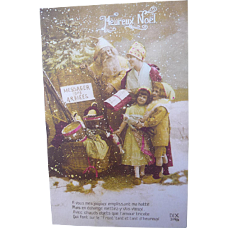 Vintage Santa Photo Postcard