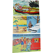 Three Humorous Vintage Postcards