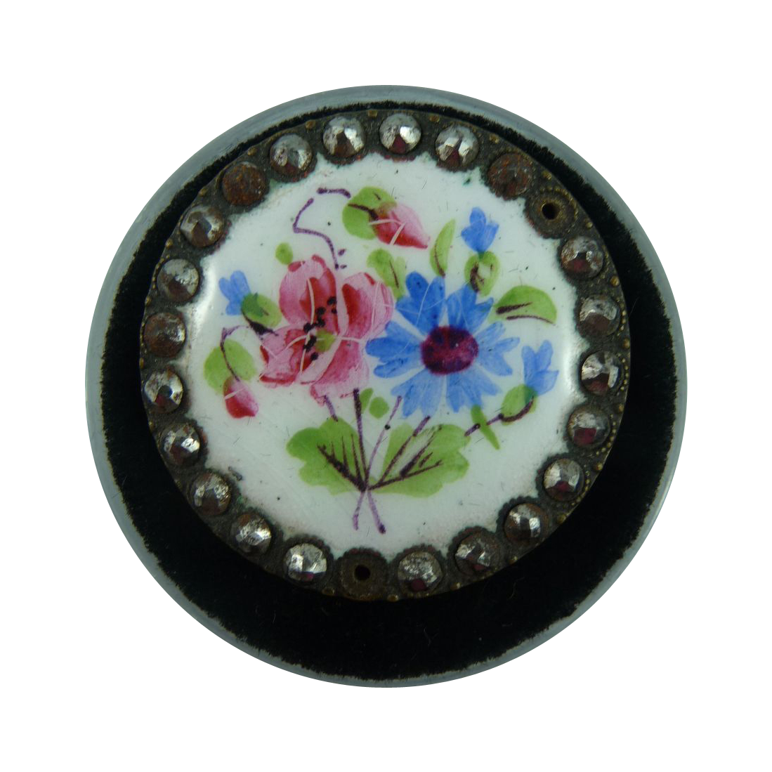 Lovely 1800's Porcelain Button