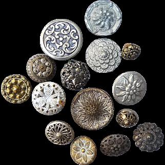 15 Vintage Assorted Vintage Buttons